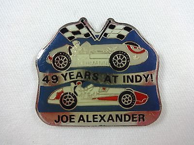Joe Alexander 49 Years At Indy Collector Lapel Pin Indianapolis 500 IndyCar Indy