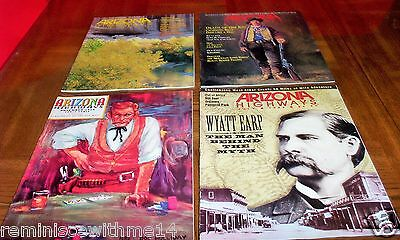 Lot Of Four (4) Arizona Highways- Gunslingers Of The Old West-Earp-Holiday-Billy