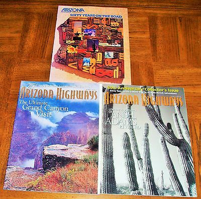 Lot Of 3 Arizona Highways -Anniversary Issues-60Th - 75Th & 80Th-Collectors Edit