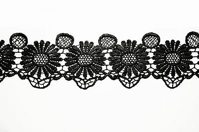 """Lily 1.75/"""" White or Off White Victorian Guipure Venice Lace Trim by Yard"""