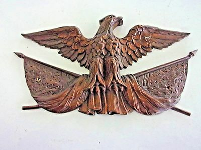 100 Year Old Bronze Eagle Plaque / Wall Hanging