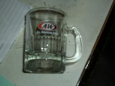"""A & W Root Beer Baby Glass Mug ~ 3 1/4"""" tall A&W"""