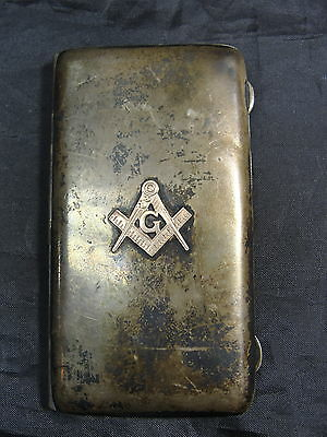 Rare Vintage Sterling Silver Masonic Business Card Holder W/engraving 55.6 Grams