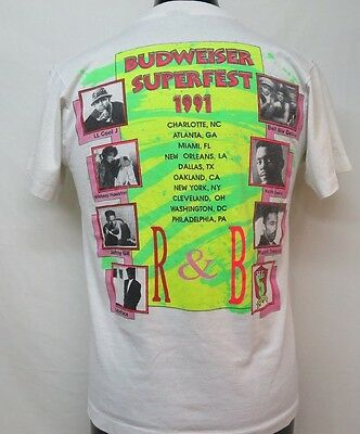 VTG Budweiser Superfest 1991 LL Cool J, Bell Biv DeVoe, Keith Sweat RARE T Shirt