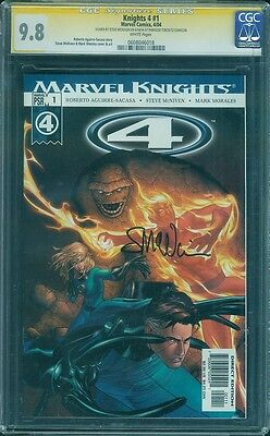 Fantastic Four 1 Marvel Knights CGC SS 9.8 Steve Mcniven Signed Cover Movie