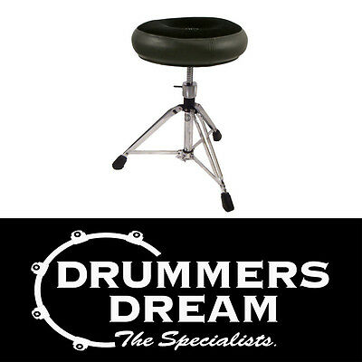 ROC-N-SOC Manual Spindle Black Round Style Drum Throne / Stool  BAND NEW