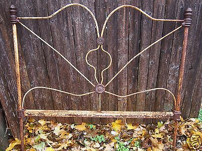 antique cast iron headboard garden decor Victorian