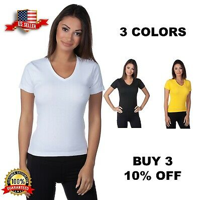 0df7a4d0fd39d7 HERING BRAZILIAN JUNIOR Women s Cotton V-Neck T-shirt Style 02A5 ...
