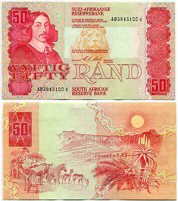 South Africa 50 Rand 1984 P 122 Sign 7 Aunc