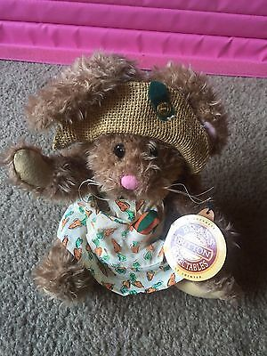 Plush Brass Button Collectibles Legendary Fully Jointed Flora Bunny Hare NWT