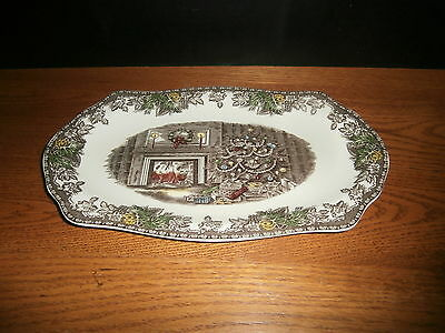 Rare Johnson Bros Friendly Village Sandwich tray Christmas 1/1000 Mint Signed 02