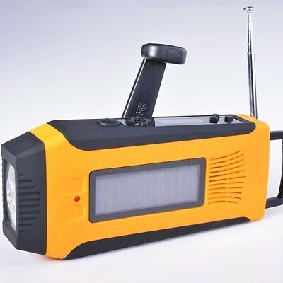 Meding Md-092Wb Solar Crank Noaa Bluetooth Emergency Weather Radio With Digital