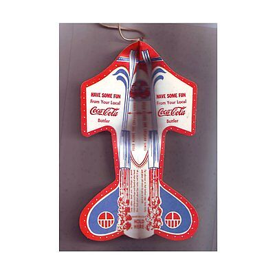 50's Coca Cola Coke Soda Pop Paper Airplane Toy Plane Can Flat Beer Top NoRskOfr