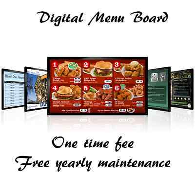 Restaurant Digital Signage Menu Boards Design for Fast Food
