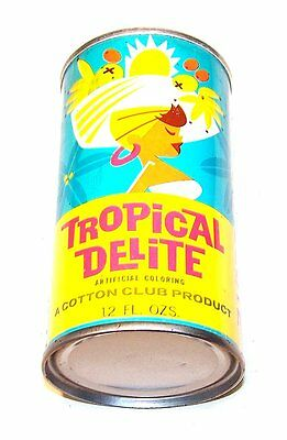 Cotton Club Tropical Delite Fruit Punch Soda Pop Tab Top Can Beer Flat Pull MOfr