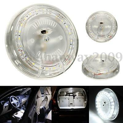 12V 5W 24 LED 200LM White Car Round Interior Roof Dome Light Indoor Ceiling Lamp