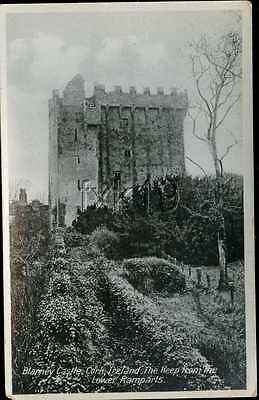 Ireland ~ CORK ~ Blarney Castle The Keep From Lower Ramparts RPPC Postcard 4875