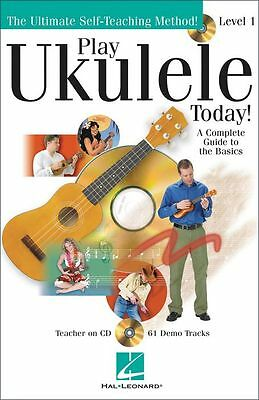 PLAY UKULELE TODAY BOOK LEARN TO PLAY TUTORIAL w CD COMPLETE GUIDE TO UKE BASICS