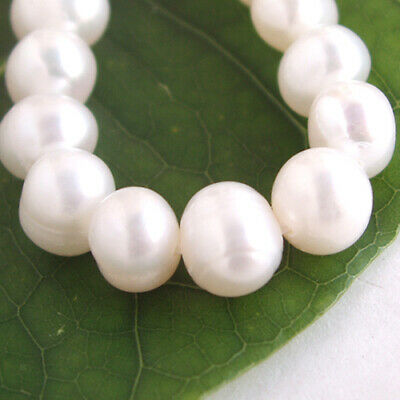 5mm 15 Inch White Freshwater Pearl Potato Shape Loose Beads Strand for Jewelry