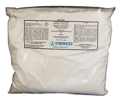 Tetrasodium EDTA 4NA 5 lb Water Softener Chelating agent Sequester salt powder
