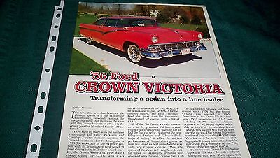1956 Ford Crown Victoria  Original Magazine Article  8  Pages