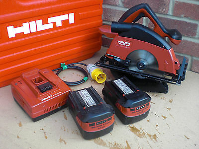 Hilti WSC 70 A 36V Cordless Circular Saw & Case & Charger & two 3.9 Batteries