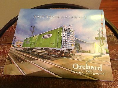 New Orchard Supply Hardware Collectible Osh 2017 Train Locomotive Wall Calendar