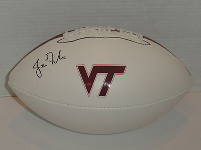 Justin Fuente Signed Football Virginia Tech Hokies Coach Autographed Proof