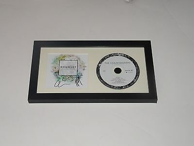 """The Chainsmokers Signed Framed """"bouquet"""" Cd Andrew Taggart Alex Pall Exact Proof"""