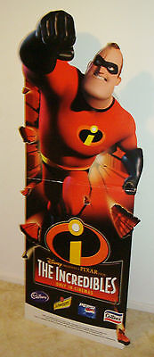 NEW MINT 2005 the incredibles CARDBOARD STAND up Promotional DISPLAY POSTER