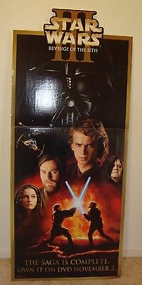 STAR WARS EPISODE 3 2005 CARDBOARD STAND up Promotional DISPLAY 158cm tall