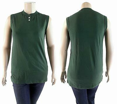 NWT Southern Athletic Blank Softball Sport Top Dark Green DEALS