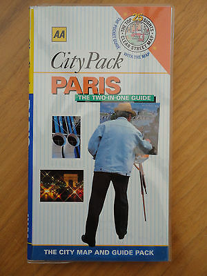 City Pack of Paris by Fiona Dunlop (Paperback, 2000)with supersize map.AA guide: