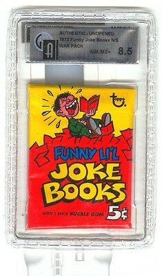 Topps not Scanlens  Funny L'il Joke Books  unopened 5c wax pack  GAI 8.5 NM/MT