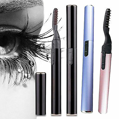Hot New Pen Electric Heated Makeup Eye Lashes Long Lasting Eyelash Curler POP