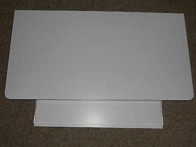 Modular Storage System Desktop and Keyboard Tray, Computer, White Lacquer Finish