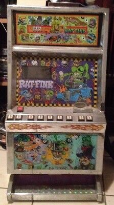 one of a kind rat fink poker machine airbrushed by little mic and hand painted