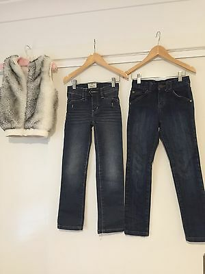 Girls Jeans And Jacket Size 7