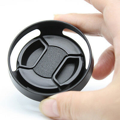 49mm Black Vented Curved Metal Lens Hood For Leica Canon Camera Accessories