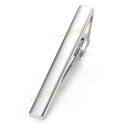 Honey Bear Mens Tie clip Bar Pins Silver Stainless Steel For Wedding Gift 54mm