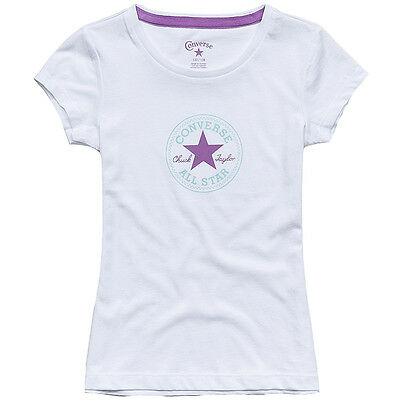 Converse Kid's: CT Patch Girls T-Shirt White / 72201-059