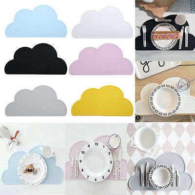 Cloud Shape Silicone Placemats Coasters For Dining Kitchen Tableware Insulation