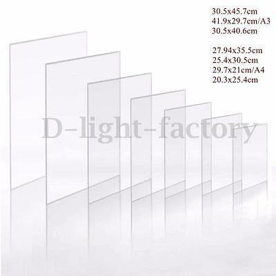 Clear Acrylic Perspex Flexible Sheet 1.2mm Craft Hobby Photo Frame Easy Cut