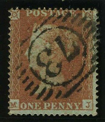 Sg 16b 1d Red Plate 100 MJ ARCHER PERF.  A very fine used example, with RPS cert