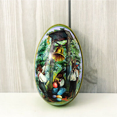 Metal Tin Cute Easter Egg Trinket Gift Storage Candy Box Case Party Decor 06