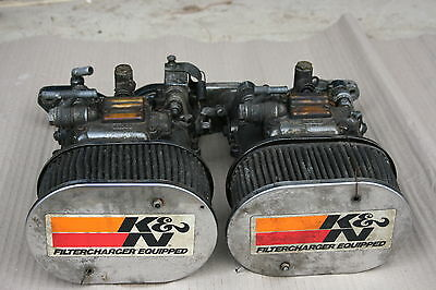 Twin Dellorto 45s with manifold and K&N filters for a 2.0L Ford Pinto