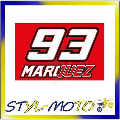 1653068 Bandiera 100 X 70 Cm Marc Marquez Mm 93 Ufficiale Originale