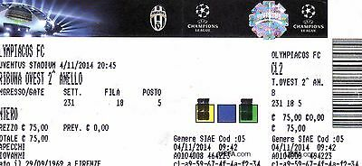 JUVENTUS - OLYMPIACOS 14/15 CHAMPIONS LEAGUE biglietto ticket