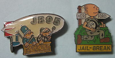 2 Police Charity Pins/Tie Tacs - HEREFORD JAIL BREAK 1994 & 95