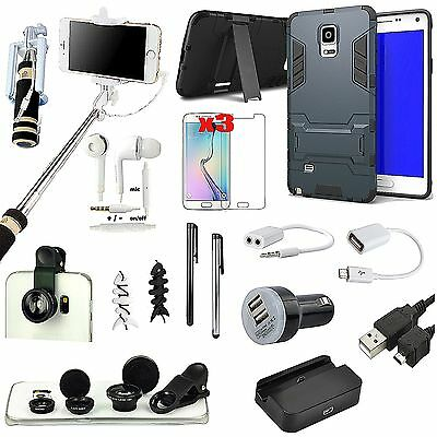 All x Accessory Case Cover Charger Monopod Fish Eye For Samsung Galaxy Note 4